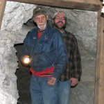 Dad and Mike Spelunking